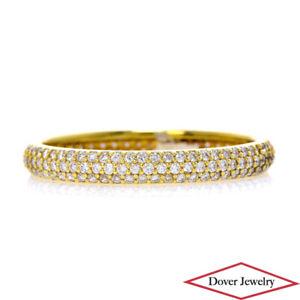 Estate 1.65ct Diamond 18K Gold Eternity Band Ring NR