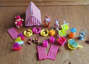 Winnie The pooh,Tiger,Piglet, Playset,Beach,Camping.Disney Rare,Flock Figures