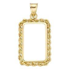 14~KT GOLD ~ ROPE BEZEL ~ 10~GRAM  BAR SIZE ~ WITH BALE ~HANDMADE~ SALE ~$228.88