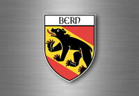 Sticker decal souvenir car coat of arms shield city flag switzerland bern