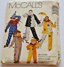 McCall's P253 Be a Clown Sewing Pattern Child Size 6-8 Costume