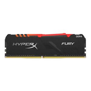 8GB Kingston HyperX Fury RGB DDR4 3200MHz PC4-25600 CL16 1.35V Memory Module
