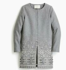 WOMEN Collection Cocoon Coat Embellished Italian Wool melton US 4 UK 8 RRP 750