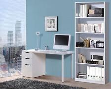 Estantería o librería para despacho, oficina o decoración en blanco brillo