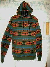 Mens Aztec Navajo Native American Indian Warrior Knit Fleece Lined Hoodie Med
