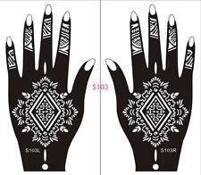 Henna decal stencil body jewllery self adhesive hand S103