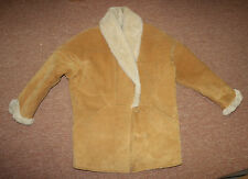 JONES NEW YORK  small suede fur lined coat jacket leather
