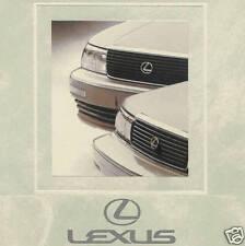 1991 LEXUS LS 400 & ES 250 FACTORY BROCHURE-LS400-ES250