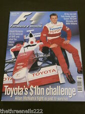 F1 - FORMULA 1 MAGAZINE - TOYOTA'S $1bn CHALLENGE - FEB 2002