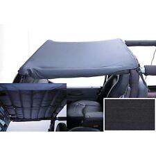 Bikini Top Brief Header Mount 97-06 TJ Jeep Wrangler LJ Unlimited Denim Black