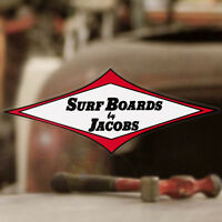 Surfboards by Jacobs sticker decal hot rod surfing hang loose aloha Hawaii 6""