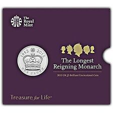 Longest Reigning Monarch 2015 UK £5 Brilliant Uncirculated Coin Royal Mint NEW