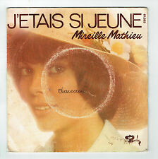 """Mireille MATHIEU Vinyle 45T 7"""" J'ETAIS SI JEUNE - ADIEU JTM -BARCLAY 61.683 RARE"""
