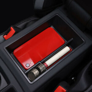 For Audi Q3 2019 2020 2021 Inner Center Armrest Storage Box Holder Car Organizer