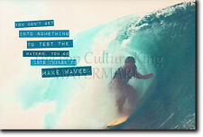 SURFING MOTIVATIONAL POSTER 9 QUOTE SURF MOTIVATION PHOTO PRINT GIFT WAVES