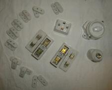 Appareillage électrique porcelaine KIT LUMIERE Lot 13 TBE fusible prise inter 2
