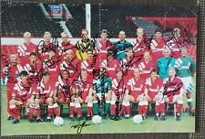 """1992 LIVERPOOL - SIGNED POSTER BY 22 PLAYERS FA CUP FINAL WINNERS. 20"""" x 13"""""""