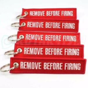 REMOVE BEFORE FIRING KEYCHAIN COLOR = RED/WHITE QTY 5 - GLOCK HK BERETTA