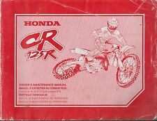 Motos Honda CR125R Offroad Original 1997 fábrica reparación Manual