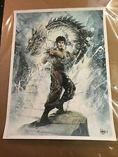 """Bruce Lee """"Be Like Water"""" by JP Valderrama Signed Numbered Edition of 50 Rare"""