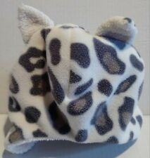 FLEECE WINTER HAT Girls Toddler Animal Print with Ears Size 12-24mo