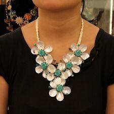Collier Fleur Nacre Blanche Naturelle Turquoise Artisan Mariage Cadeau NZ 1
