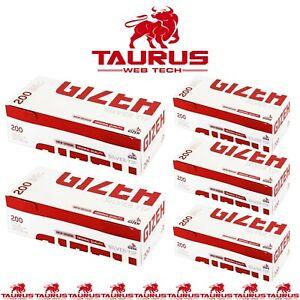 2000 x GIZEH Filter TUBES Silver Tip Paper Smoking Cigarette Tobacco UK FREE P&P