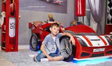 Rote Bettgestelle ohne Matratze mit 90 cm Liegeflächen-Breite für Jungen