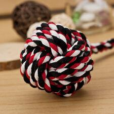 NEU Hundespielzeug Seil Tau mit Knoten Schleuderball Ballschleuder Chew Knot