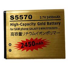 BATTERIA MAGGIORATA 2450 mAh GOLD X SAMSUNG GALAXY S MINI S5750 S5570 NEXT