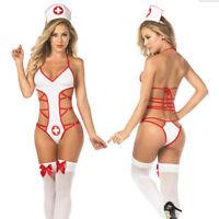 Sexy Women Lingerie Nurse Costume Doctor Uniform Outfit Fancy Dress Cosplay