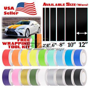 Matte Color Racing Stripes Vinyl Wrap Sticker For Lexus IS ES GS 25FT / 50FT