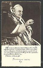 Holy card antique del Papa Juan XXIII santino image pieuse estampa