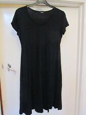 M&Co Stretchy Plain Black Dress in Size 12