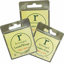Riverge Leader/Tippet/Fly Silver Rings 10 per packet choose 1.5mm 2.0mm or 3.0mm
