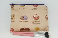 Make up bag French cakes fabric small cosmetics bag cakes Handmade gift