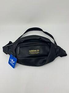 adidas Originals National Leather Waist Fanny Pack Trefoil Travel Core