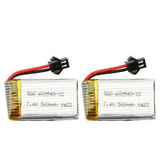 Spare Part for RC Quadcopter Helicopter Drone 2Pieces 7.4V 500mAh Lipo Batteries