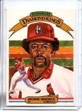 1982 DONRUSS GEORGE HENDRICK DIAMOND KINGS (NM/MT) @@