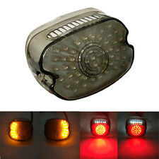 Smoke 5 Wires LED Tail Brake Turn Light for 91-10 Harley Sportster Softail Dyna
