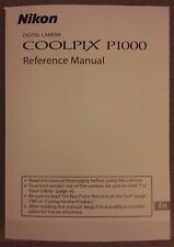 NIKON COOLPIX P1000 Full Colour Manual  - Printed & Professionally Bound Size A5