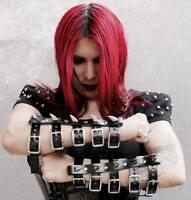 Steampunk LARP Armstulpen Gothic Kunstleder mit Schnallen von Punk Rave