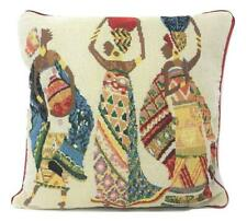 DaDa Bedding Dancing Women African Kwanzaa Colorful Tapestry Throw Pillow Cover