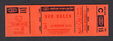 1984 Van Halen unused concert ticket Madison Square Garden Hot For The Teacher