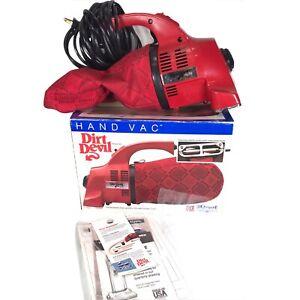 Vintage Royal Dirt Devil Hand Vac Handheld Vacuum Model 103 Vacuum Cleaner Works