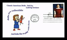 DR JIM STAMPS US LUDWIG GREINER CLASSIC DOLLS LIMITED EDITION UNSEALED FDC COVER