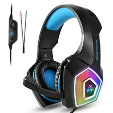 TENSWALL PS4 Gaming Headset, Hunterspider Series, LED Light Wired PC Gaming Head