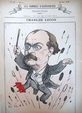 CHARLES LECOQ COMPOSITEUR OPERETTE CARICATURE GILL LES HOMMES D'AUJOURD'HUI 1878