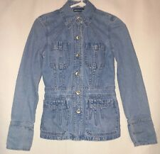 WOMEN'S XS, BLUE DENIM, BUTTON DOWN JACKET BY DKNY!