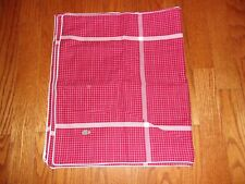 New Lacoste Chili Pepper Red White Plaid King Shams Pair